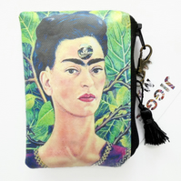 Waterproof Frida Khalo, credit card wallet, business card holder, coin Purse