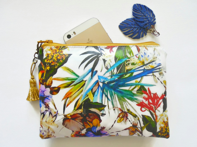 Waterproof tropical Jungalow, Wallet, Phone sleeve, Purse