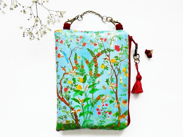 Waterproof chinoiserie bag, hanging pouch ,zipper wallet