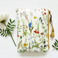 waterproof botanical print wallet, bag, pouch