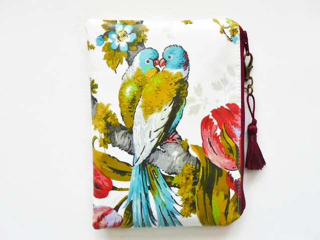 Budgies print Waterproof wallet, birds Waterproof Bag