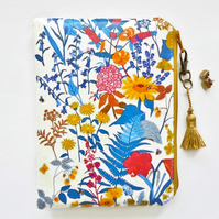 Sunflowers print Waterproof wallet, floral Waterproof Bag