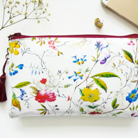 Antique style chintz Waterproof passport, Purse with credit card Holder Pockets.