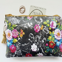 Waterproof black chintz wipeclean waterproof Wallet