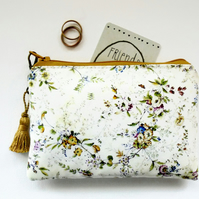 Waterproof wipeclean antique style chintz coin Purse