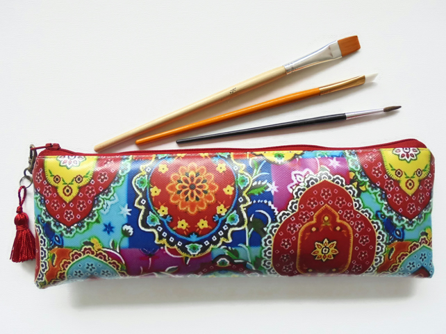 Waterproof colour pop Artist brush holder, pencil case, crochet hook, brush bag.
