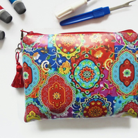 Colourful waterproof wallet, zipper pouch ,Ladies Wallet clutch Purse
