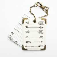 Waterproof Arrows, travel Tags, luggage tags ,suitcase, travel in style.