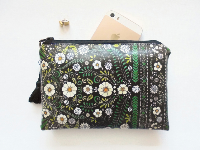 Waterproof folk pouch, Phone sleeve,  Purse, cosmetic bag,  make-up bag