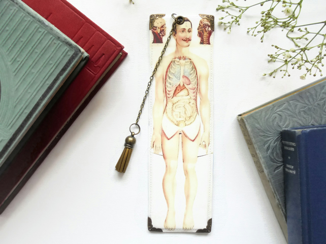 Luxury waterproof Bookmark, medical gift, anatomy, literary gift, book lover