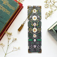 Luxury waterproof Bookmark, page marker, folk flower, literary gift, book lover
