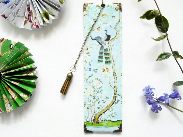 Luxury waterproof Bookmark, medical gift, Chinoiserie, literary gift, bookworm.