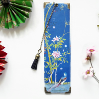 Luxury waterproof Bookmark, Blue, Chinoiserie, literary gift, bookworm.
