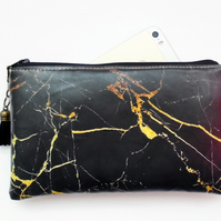 Marble Print Waterproof wallet, purse, pouch, passport holder.