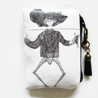 Edward Gorey, Frog lady, Waterproof credit card wallet.
