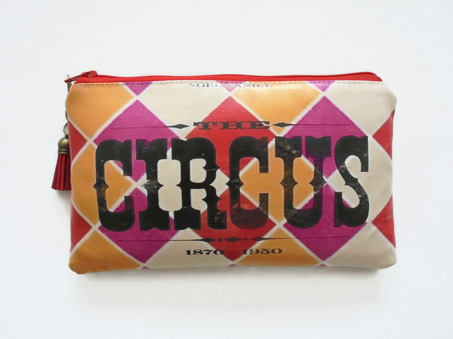 Waterproof Wallet, vintage Circus travel gift set, passport gift set,