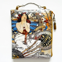 Waterproof hanging bag, Art Nouveau, travel bag, overnight bag.