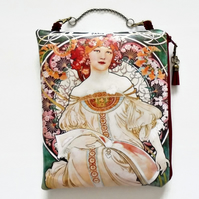 Art Nouveau large waterproof Hanging Cosmetic Bag, book, toiletries bag
