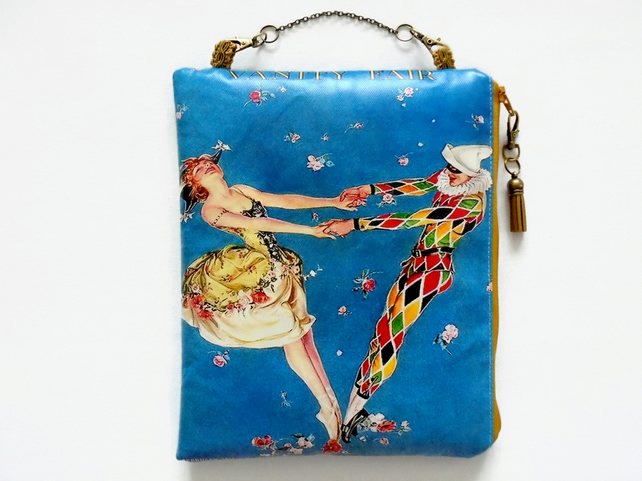 Waterproof Hanging Cosmetic Bag, harlequin, vanity fair.