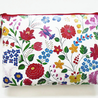 Floral Waterproof small book bag, Oversized Clutch, Purse, Bag ,Cosmetics Travel