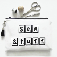 Waterproof wallet, sewing pouch, seamstress gift, sewing gift.