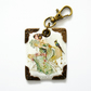 keyring, bag charm, purse charm, key tag, vintage french postcard