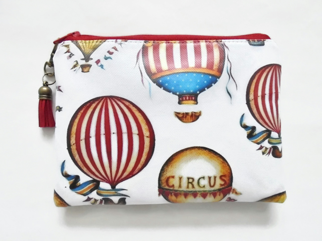 Waterproof pouch, hot air balloon, circus theme, waterproof wallet.