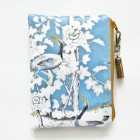 Waterproof pouch, chinoiserie, waterproof wallet, chinoise pouch