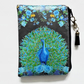 Waterproof pouch, feathers print, peacock, waterproof wallet, zipper, bag.