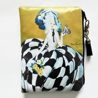 Waterproof pouch,art deco, waterproof wallet, zipper, bag.