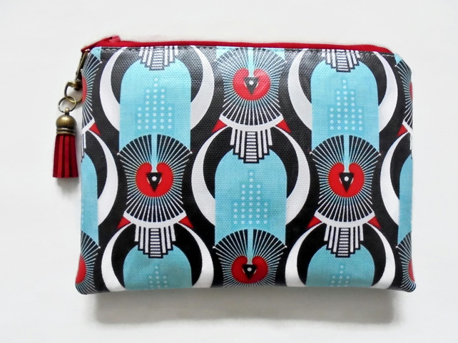 Waterproof pouch, Art Deco Ladies Wallet, Glasses Case, Tampon Pouch