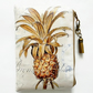 Waterproof pouch, Pineapple print, waterproof wallet, zipper, wipe clean bag.