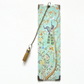 Luxury waterproof Bookmark, Chinoiserie green, literary gift, bookworm.