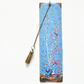 Luxury waterproof Bookmark, Chinoiserie blue, literary gift, bookworm.