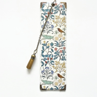 Luxury waterproof Bookmark, woodland grasshopper, literary gift, book lover