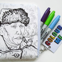 Colour-In  Van Gough doodle wallet