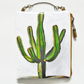Large waterproof hanging cosmetic bag, Cactus, Cacti, vintage cactus, oilcloth