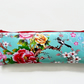 Waterproof pencil case, cherry blossom, birds, eco vinyl, brush case, eco vinyl