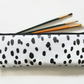 Waterproof Pencil case, Dalmatian print, long bag, brush bag, crochet bag