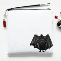 Waterproof Large square bag, Edward gorey, Dracula, eco vinyl bag.
