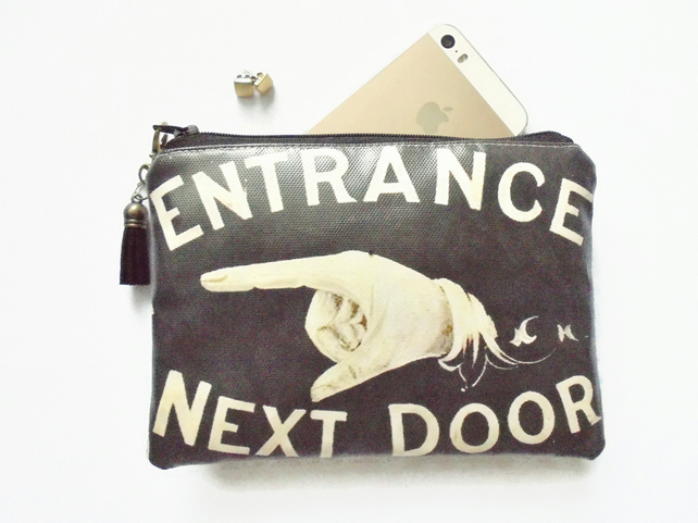 Waterproof pouch, signage, antique signs, door signs, eco vinyl wallet, waterpro