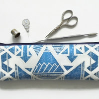 Waterproof Pencil Case, Aztec, Navajo, brush bag, crochet storage, pen pouch, pe
