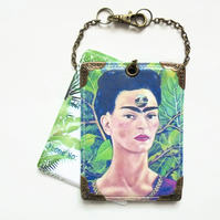 Frida Khalo, jungalow, luggage tags, baggage tags, travel tags, bag tags, eco