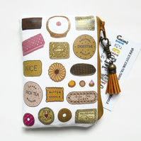 Waterproof biscuits print, business card holder, credit card Wallet, coin purse