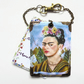 Frida Khalo floral luggage tags, baggage tags, travel tags, bag tags, eco gift,