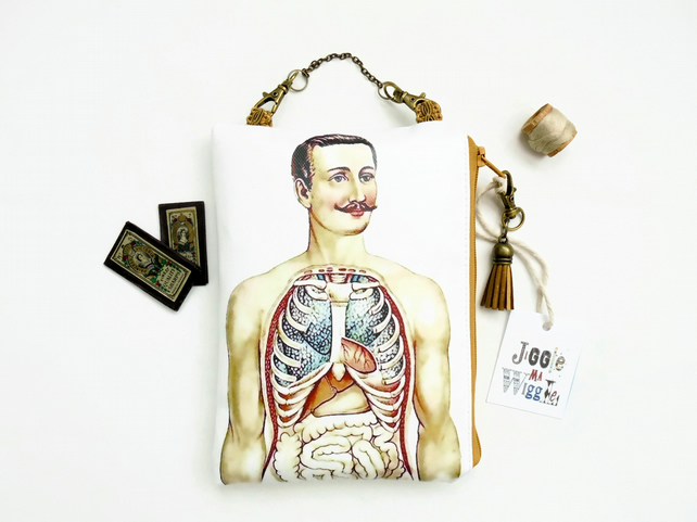 Eco Hanging bag, waterproof hanging pouch, eco gift, medical gift, anatomy.