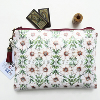 Pink Daisies waterproof wallet, Eco pouch, Eco gift, waterproof pouch, zipper po