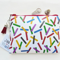 Colourful, Memphis trend, colour block, 80s, waterproof eco friendly wallet.