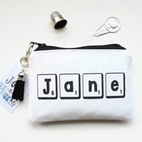 Personalised wallet,purse,coin purse,unique gift,eco gift,vegan wallet,eco