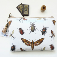 Gifts for her,zoology,moths,insects,beetles,entomology print,Waterproof wallet